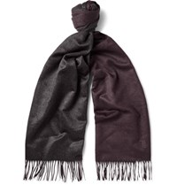 Tod's Two Tone Brushed Silk Scarf Merlot