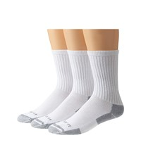 Carhartt Cotton Crew Work Socks 3 Pack White Men's Crew Cut Socks Shoes