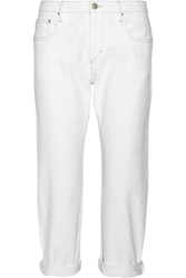 Isabel Marant Earson Stretch Denim Straight Leg Jeans White
