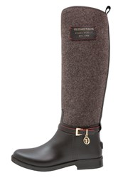 Trussardi Jeans Wellies Black Brown