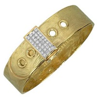 Torrini Zero 18K Yellow Gold And Diamond Pave Cuff Bracelet
