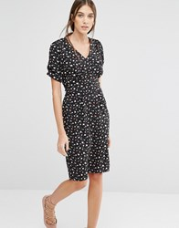 Trollied Dolly Dip And Dazzle Daisy Print Dress Black