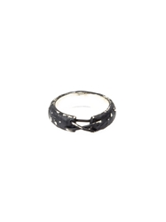 Tobias Wistisen 'Narrow Stitch' Ring Black