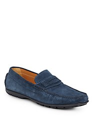 Saks Fifth Avenue Suede Drivers Blue