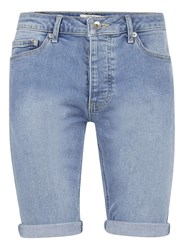 Topman Powder Blue Stretch Skinny Denim Shorts