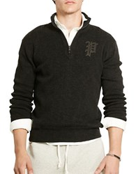 Polo Ralph Lauren Cotton Half Zip Sweater Charcoal Grey