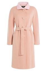 Paule Ka Virgin Wool Coat Beige
