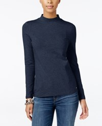 Tommy Hilfiger Ellie Mock Neck Top Peacoat