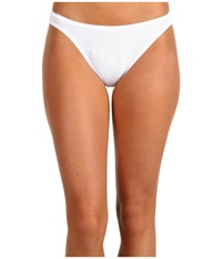 Hanro Cotton Seamless Hi Cut Brief 1624 White Women's Underwear