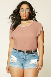 Forever 21 Plus Size Cap Sleeved Top