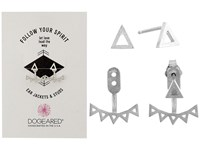 Dogeared Follow Your Spirit Multi Triangle Ear Jacket Earrings Sterling Silver Earring