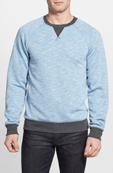 1901 'Shelton' French Terry Crewneck Sweatshirt Blue Parisian Slub