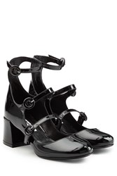 Mcq By Alexander Mcqueen Patent Leather Mary Jane Pumps Black