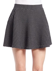 Free People Patterned Skater Skirt Black
