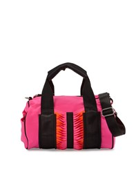 Gx By Gwen Stefani Indiana Neoprene Satchel Bag Pink Orange Black