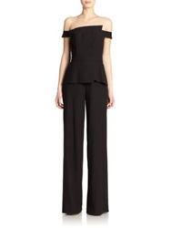 Black Halo La Reina Wide Leg Jumpsuit Black