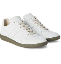 Maison Martin Margiela Replica Nubuck Sneakers Off White