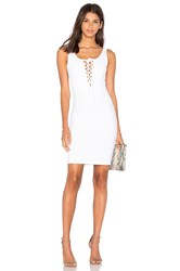 Donna Mizani Lace Up Mini Dress White
