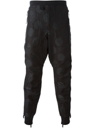 Alexander Mcqueen Skull Jacquard Tapered Trousers Black