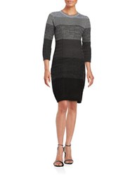 Calvin Klein Cable Knit Sweater Dress Black Charcoal