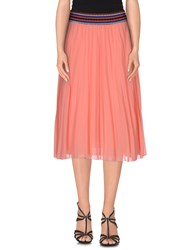 Souvenir Clubbing Skirts Knee Length Skirts Women Coral