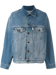 Off White Stonewashed Denim Jacket Blue