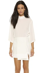 Shakuhachi Date Night Kimono Sleeve Tee Dress White