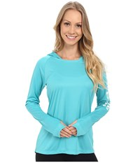 Columbia Tidal Tee Hoodie Miami White Women's Sweatshirt Blue