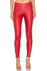 Mlml Leather Seamed Legging Red