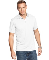 Alfani Red Ottoman Quarter Zip Polo Bright White
