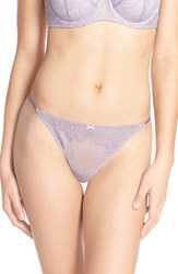 B.Tempt'd Women's By Wacoal 'B. Sultry' Lace Thong Dusk