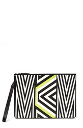 Mcmxtobias Rehberger Geometric Coated Canvas Pouch Green Lime Green