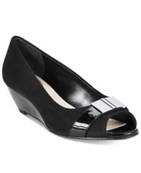 Alfani Women's Step 'N Flex Chorde Wedge Pumps Only At Macy's Women's Shoes Black