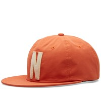 Norse Projects Summer Cotton 6 Panel Cap Orange