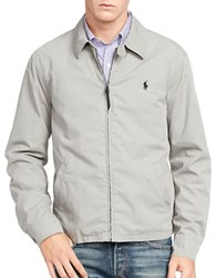 Polo Ralph Lauren Cotton Poplin Windbreaker Jacket Grey