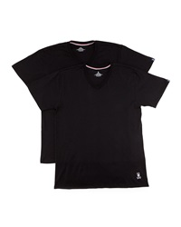 Psycho Bunny Motion Tagless V Neck Two Pack Black