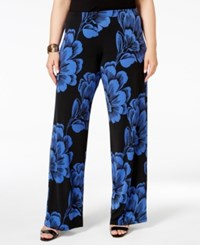 Alfani Plus Size Printed Wide Leg Soft Pants Only At Macy's New Luxe Floral