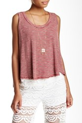 Poof Striped Hi Lo Tank Red