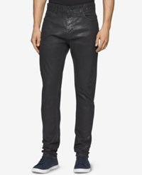 Calvin Klein Men's Slim Fit Coated Black Jeans