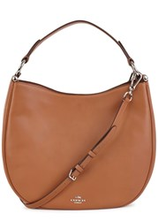 Coach Noman Brown Leather Hobo Bag Tan