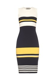 Preen Tana Intarsia Knit Midi Dress