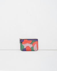 Comme Des Garcons Metallic Patchwork Small Zip Pouch Multicolor