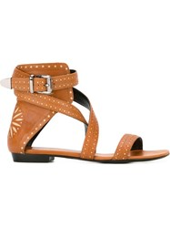 Barbara Bui Buckled Strap Sandals Nude And Neutrals