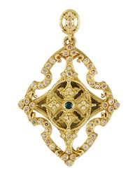 Sueno 18K Yellow Gold And Diamond Cross Enhancer Armenta Yellow Gold
