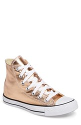 Converse Women's Chuck Taylor All Star Metallic High Top Sneaker Metallic Sunset Glow White