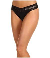Hanky Panky Bridesmaid Original Rise Bridal Party Thong Black Clear Women's Underwear
