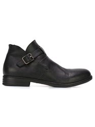 Pantanetti Buckled Ankle Boots Black