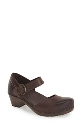 Dansko 'Makenna' Mary Jane Pump Women Brown Full Grain