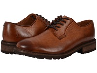 Frye James Lug Oxford Cognac Smooth Full Grain Men's Lace Up Casual Shoes Red