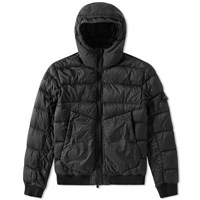 Stone Island Garment Dyed Short Down Jacket Black